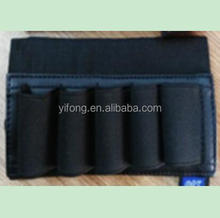 5 Rounds Leather Shell Ammo Holder for Hunting Sports