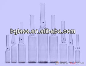 Amber pharmaceutical low borosilicate glass tube