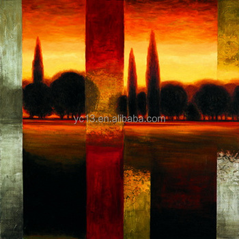High quality handmade simple scenery oil paintings