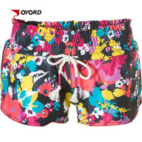 Custom sublimation Printed Sexy teen girls in spandex board shorts