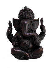 personalized Indian handmade painted decorative poly resin ganesha idol