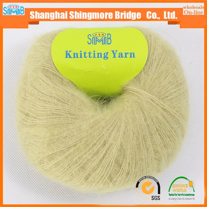 china fancy yarn supplier cheap sale kid mohair yarn in high quality for hand knitting