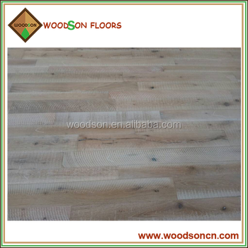 Different Width Artistic Sawn Oak Solid Parquet Flooring