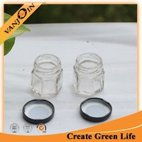 Clear Mini Glass Canning Jar Hexagon For Jam