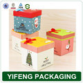 Decorative Custom design recyclable paper christmas gift box packaging