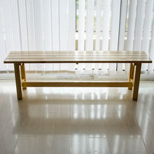 Factory directly supplying qualified solid wood outdoor garden bench