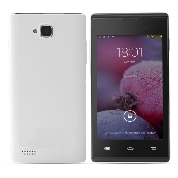 4inch MTK6572 Dual Core 854*480 512MB 4GB 3G /GPS/BT/WIFI SmartPhone with Dual SIM dual standby