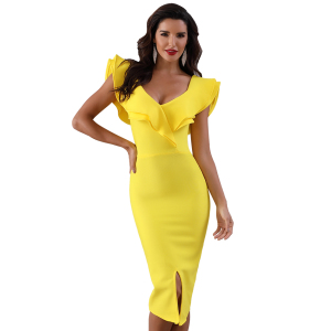 Wholesale LAdyce Slash Neck Summer Sexy Off Shoulder Cheap Women Bandage Dresses For Party
