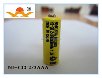 1.2v ni-cd 2/3 aaa 200 mah rechargeable battery