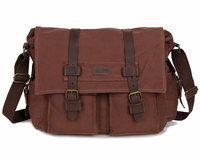 9005C J.M.D Waxed Canvas Casual Messenger Bag for Men