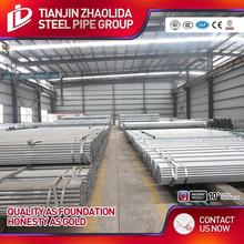 supplier of pre galvanized steel pipe erw black or bright steel pipe for furniture
