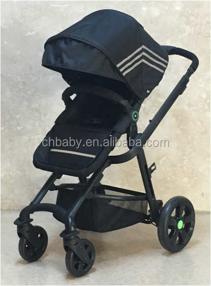 fashion design baby stroller with linked brake quickly folding great suspension wheel