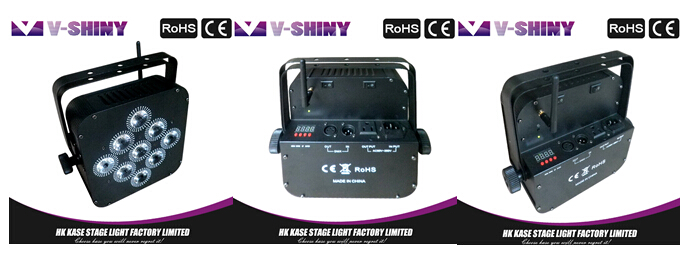 Rgbaw uv 6in1 battery powered led flat par light