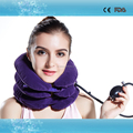Comfortable full flannel travel neck pillow cervical collar portable inflatable cervical traction apparatus