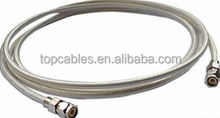 1 meter silver grey metallic sheath microwave coaxial cable