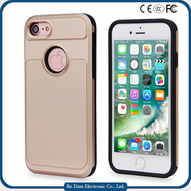 Detachable 2 in 1 3D Touching Screen Protector Hybrid Armor strong Case Dual-Layer Shockproof Cell Phone Case Cover for iphone7
