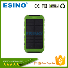 One Year Warranty! Small Size Waterproof Solar Power Bank 10000mAh From Shenzhen