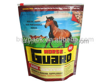 Stand up slider zipper bag for horse food