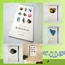 WT-CLD-929 2015 spiral bound art paper calendar printed in china