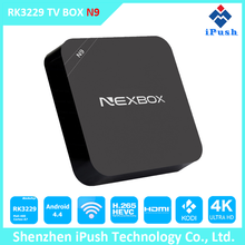 2016 Hot Selling N9 Android TV Box Dual WiFi Band Kodi Loaded 1G/8G Google Rk3229 Quad Core Android 4.4 4k ott tv box