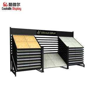 Wood Effect Tiles Stone Granite Slab Sliding Display Rack for Showroom