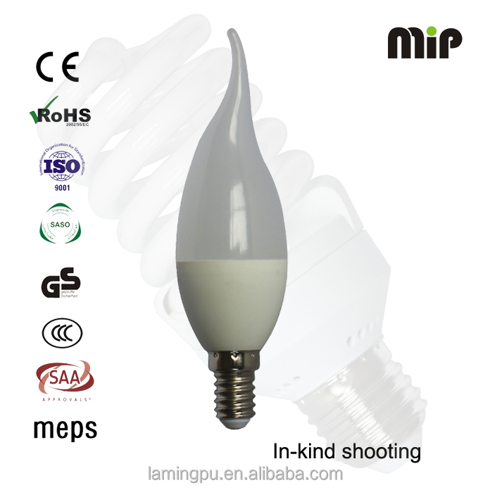 high quality C37 tailed 4W led candle light E14 bulb