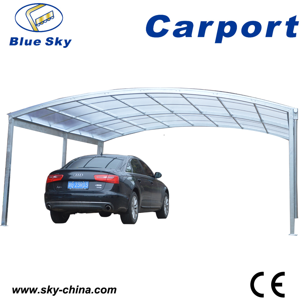 Polycarbonate And Galvanized Carport Strong Round Style