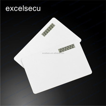 Customzied Logo Printing competitive price blank magnetic stripe plastic pvc smart visa card