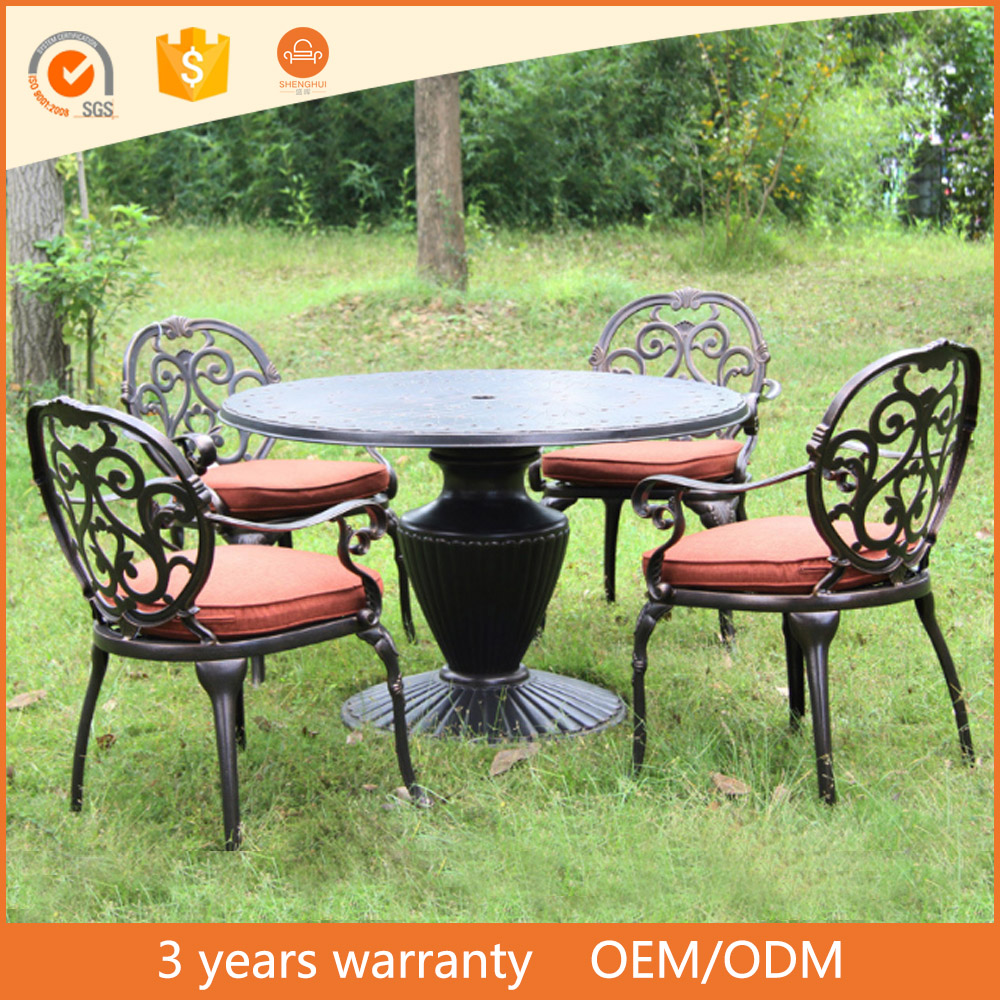 Cheap Wholesale China Manufacture Cast Aluminum Outdoor Lowes Patio Furniture
