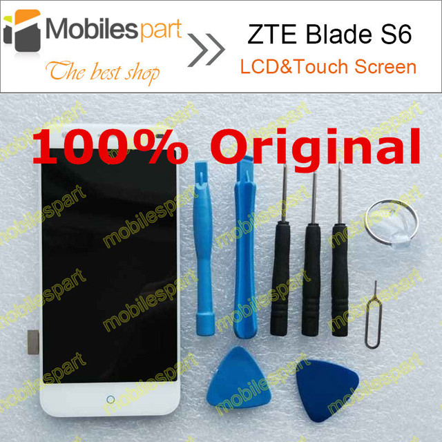 ZTE Blade S6 LCD Screen 100% Original LCD Display +Touch Screen Assembly Replacement  For ZTE Blade S6 Smartphone