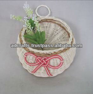 Wall hanging flower rattan basket-made in Vietnam