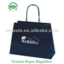 Luxury Famous designer paper bags for brand product shopping gift with ribbon handle