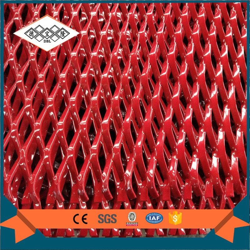 China red decotative expanded metal/expanded curtain wall mesh