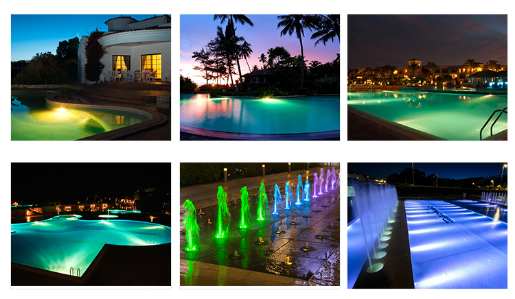 RGB fountain light equipment DMX underwater LED lights