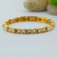 Luxury Brand Women Gold Zircon Bracelet