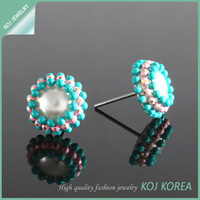 Hot sale fashion stud earrings for women, Fashion high quality in korea accessories, cheap wholesale, commission agent KE319