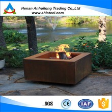 resty red metal firepit on sale / modern fire bowl