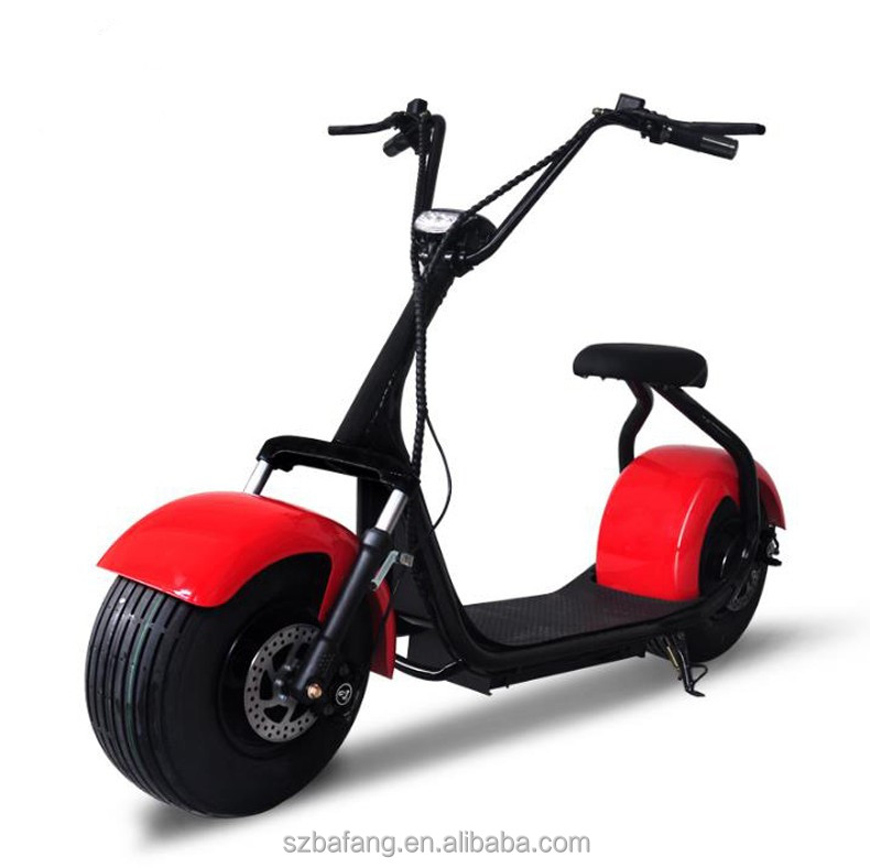 Harley Electric Scooter Motor Cycle Wide Tire Electric Bike E scooter 1000W Car Vehicle Motorcycle Citycoco