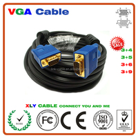 High Definition Male to Male Gold Plated Vga Cable For Computer