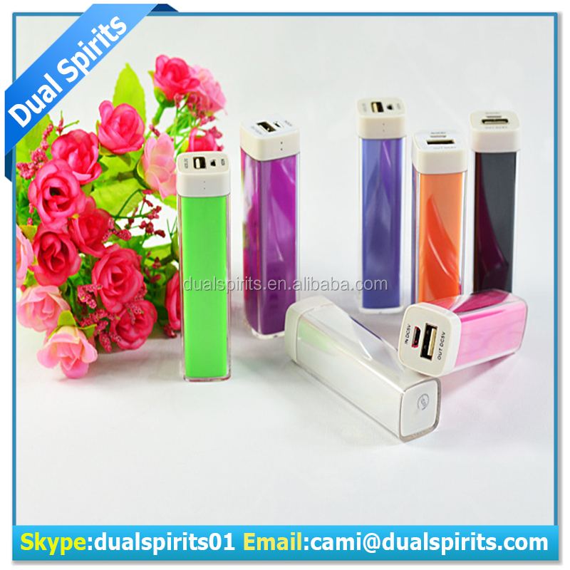 2600mah portable lipstick power bank for mobile phone manufacturers,suppliers,exporters
