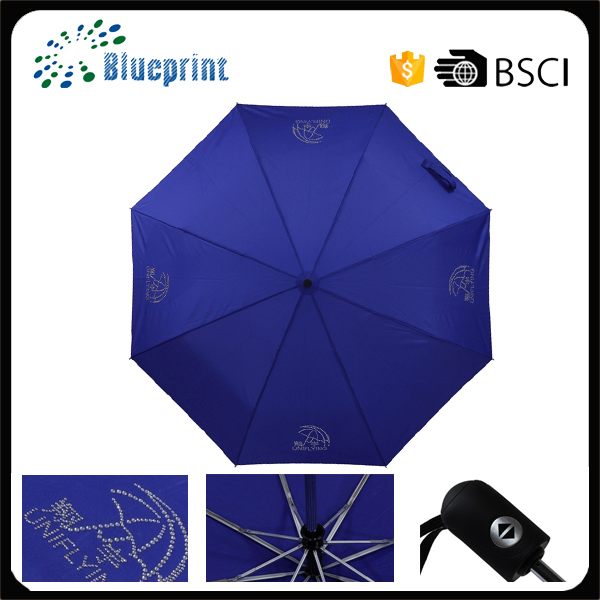 Best quality Shenzhen factory automatic custom print fold umbrella