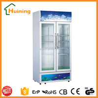 soft drink and cold drink display refrigerator, outdoor commercial freezer
