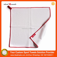 Microfiber Logo Embroidered Golf Towel With Metal Grommet And Bag