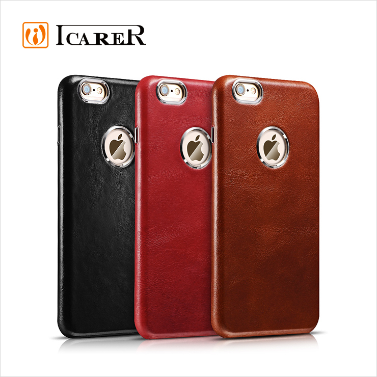 ICARER Luxury Genuine Leather case for iPhone 6 Plus Slim Cover