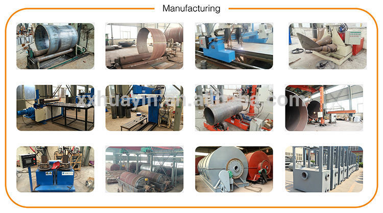 Environmental high automatic waste tire rubber to oil pyrolysis recycling plant manufacturers