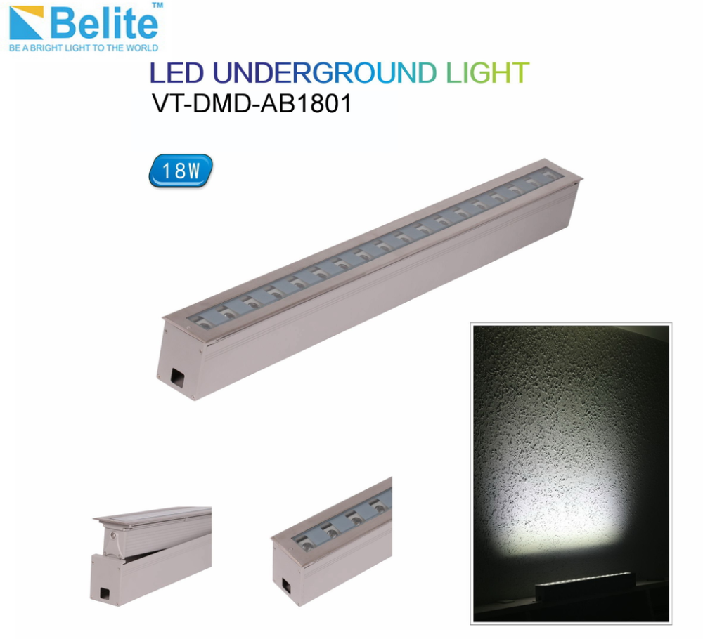 18w adjustable undergound light 1w*18pcs linear led underground light high end product 3 years warranty