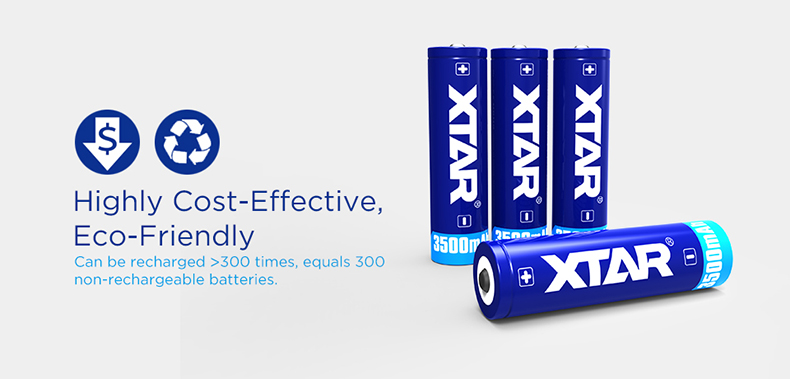 XTAR 18650 3500mAh 3.6V Li-ion battery max 10A Discharge Current Rechargeable Flashlight Battery