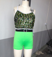 2015 hot new design-jazz dance costumes-sequin leotard -kidsand adult summer costumes