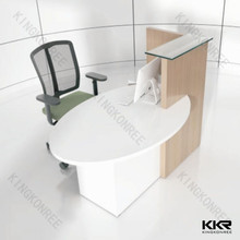 Acrylid solid surface study table and chair set