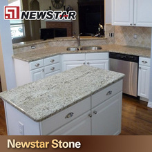 Natural Stone White Color Kitchen Islands Granite Countertop Pictures